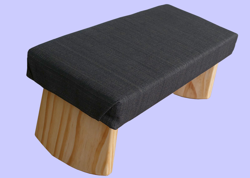Charcoal meditation bench joy is within you
