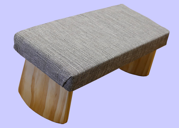 earthy grey meditation bench